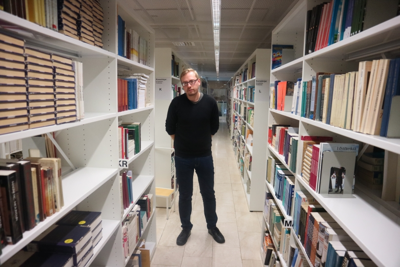 Antti Vanhoja Helsingin Kaisa kirjastossa