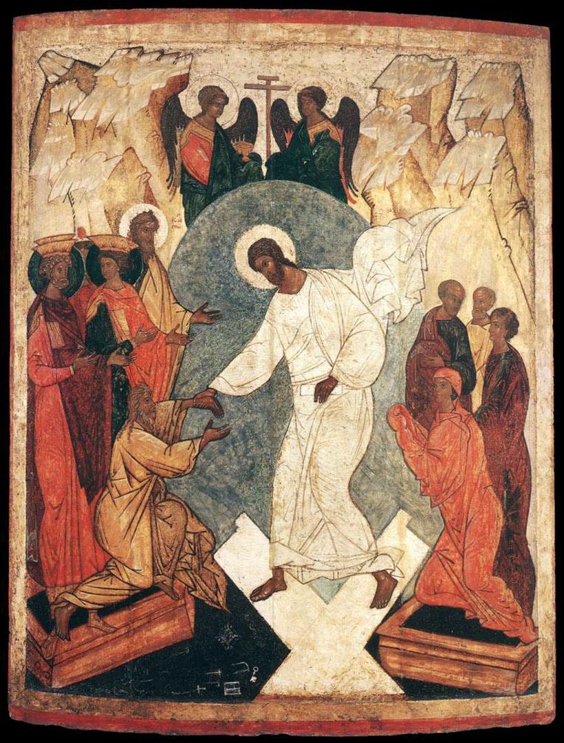 Venalainen ikoni Kristus tuonelassa